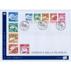 FDC ITALIA 43/2014 Unif. 3599/63 Giornata della filatelia A/Venaria