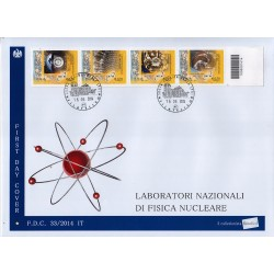 FDC ITALIA 33/2014 Unif. 3568/71 Fisica Nucleare A/Venaria Codicea barre bd
