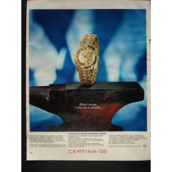 Pubblicità Advertising 1966 orologi Certina ds
