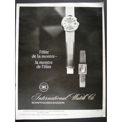 Pubblicità Advertising 1966 orologi  International Watch C
