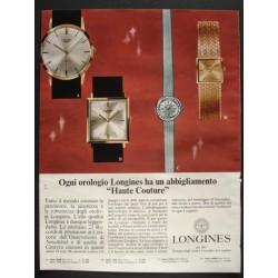 Pubblicità Advertising 1966 orologi Longines