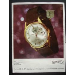 Pubblicità Advertising 1966 orologi eberhard