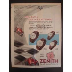 Pubblicità Advertising 1956 Orologi Zenith