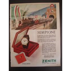 Pubblicità Advertising 1956 Orologi Zenith Sempione