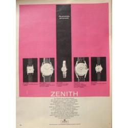 Pubblicità Advertising 1962 Orologi Zenith