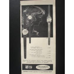 Pubblicità Advertising 1962 orologi universal geneve