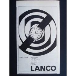 Pubblicità Advertising 1962 orologi lanco