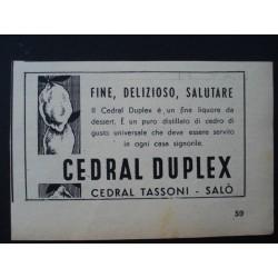 Pubblicità Advertising 1952 alimentari cedral duplex