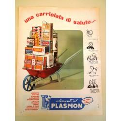 Pubblicità Advertising 1962 alimenti al plasmon