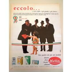 Pubblicità Advertising 1962 alimentari Mellin