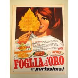 Pubblicità Advertising 1962 alimentari Star foglia d'oro