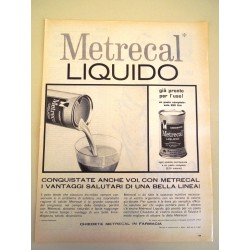 Pubblicità Advertising 1962 alimentari metrecal liquid