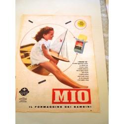 Pubblicità Advertising 1957 alimentari Formaggino Mio