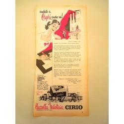 Pubblicità Advertising 1960 alimentari Cirio