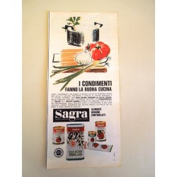 Pubblicità Advertising 1963 alimentari olio sagra