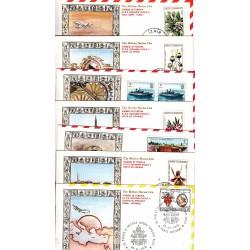 FDC Vaticano Viaggio di S.S. Giovanni Paolo II in Turchia 28-30/11/1979 7 buste