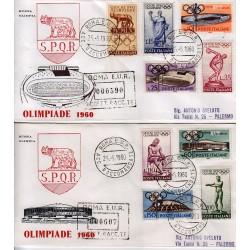 FDC ITALIA 1960 OLIMPIA - 885 Olimpiadi Di Roma raccomandata 2b