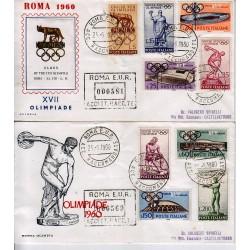 FDC ITALIA 1960 OLIMPIA - 885 Olimpiadi Di Roma raccomandata 2bx