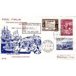 FDC ITALIA 1960 OLIMPIA - 882 Spedizione dei mille raccomandata