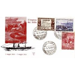 FDC ITALIA 1960 ALA 882/84 Spedizione dei mille Annullo Speciale