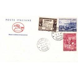 FDC ITALIA 1960 Poste Italiane 882/84 Spedizione dei mille Annullo Bologna