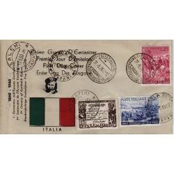 FDC ITALIA 1960 Privato 882/84 Spedizione dei mille con 4 annulli speciali