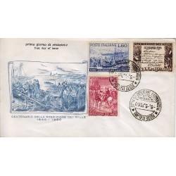 FDC ITALIA 1960 Filagrano - 882/84 Spedizione dei mille Annullo Speciale