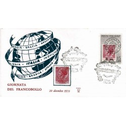 FDC ITALIA 1959 ALA Unif. 879 - Giornata della Filatelia a/s Roma