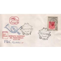 FDC ITALIA 1959 Capitolim Unif. 879 - Giornata della Filatelia A/S Roma
