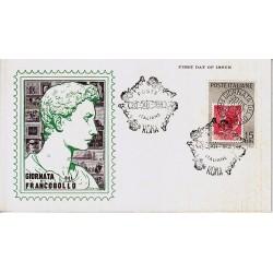 FDC ITALIA 1959 Araldo Unif. 879 - Giornata della Filatelia A/S Roma