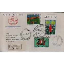 FDC ITALIA 1975 Cavallino Unif. 1322/24 Giornata del Francobollo Raccomandata