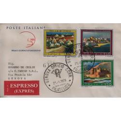 FDC ITALIA 1976 Cavallino Unif. 1330/32 Propaganda Turistica Raccomandata