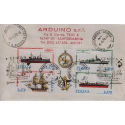 FDC ITALIA 1978 Cavallino Unif. 1412/15 Costruzioni Navali Raccomandata