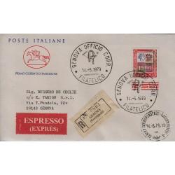 FDC ITALIA 1979 Cavallino Unif. 1438 Alti Valori 1500 Raccomandata