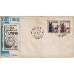 FDC ITALIA 1959 Artemisia Unif. 871/2 Organizzazione Internazionale del Lavoro
