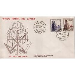 FDC ITALIA 1959 Privato - 871/2 - Organizzazione Internazionale del Lavoro