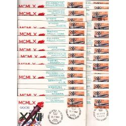 MARCOFILIA ANNULLO SPECIALE 25/07/1960 XVII Giochi Olimpici giro completo 29 Buste