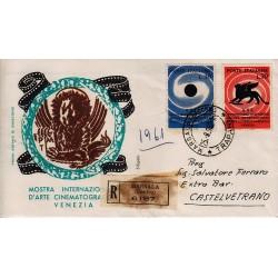 FDC ITALIA 1959 Siligato - 942/3 Arte Cinematografica Venezia raccomandata