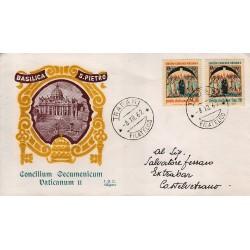 FDC ITALIA 1959 Siligato - 953/4 Concilio Vaticano II raccomandata