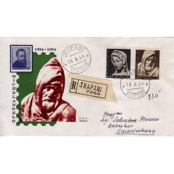 FDC ITALIA 1964 Siligato Unif. 977/A156 Michelangelo Buonarroti raccomandata