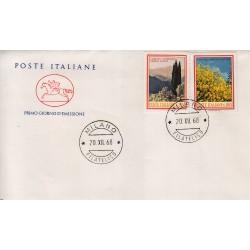 FDC ITALIA 1968 Cavallino Unif. 1106/7 Flora 3° Serie Annullo Milano