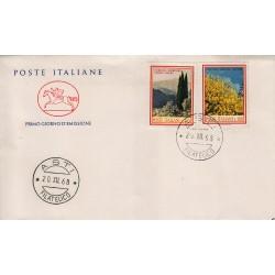 FDC ITALIA 1968 Cavallino Unif. 1106/7 Flora 3° Serie Annullo Asti