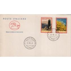 FDC ITALIA 1968 Cavallino Unif. 1106/7 Flora 3° Serie Annullo Roma