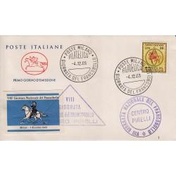 FDC ITALIA 1966 Cavallino Unif. 1033 Giornata Del Francobollo Annullo Roma