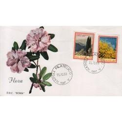 FDC ITALIA 1968 Roma Unif. 1106/7 A Flora 3° Serie Annullo Napoli