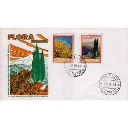 FDC ITALIA 1968 Milvio Unif. 1106/7 Flora 3° Serie Annullo Roma