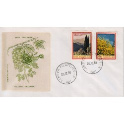 FDC ITALIA 1968 Filagrano Gold Unif. 1106/7 Flora 3° S. Annullo Genova