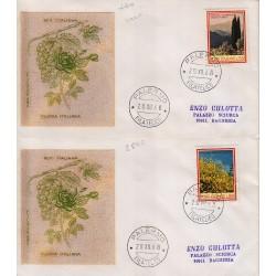FDC ITALIA 1968 Filagrano Gold Unif. 1106/7 Flora 3° S. Annullo Palermo