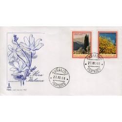 FDC ITALIA 1968 Capitolium Unif. 1106/7 Flora 3° S. Annullo Avellino