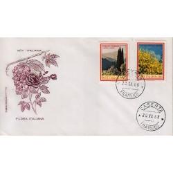 FDC ITALIA 1968 Filagrano Unif. 1106/7 Flora 3° S. Annullo Caserta